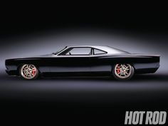 1969 Plymouth Roadrunner hot rod. This is a beautiful modern execution of a car that already had graceful lines.