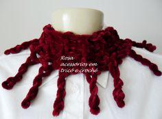 Gola tricô - knit - Cowl by www.rosaacessorios.blogspot.com