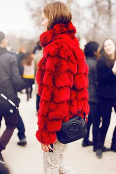 Leopard Tieks would go perfectly with this fur coat!