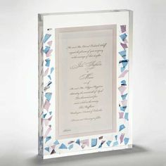 Wedding Lucite Invitation - turn your wedding invitation into a treasured memory forever displayed. Any size.