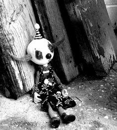 Halloween Sad Clown Decoration Art Doll Creepy by loopyboopy, $250.00
