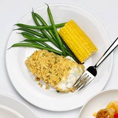 Crunchy Baked Fish Fillets | MyRecipes.com #protein #myplate
