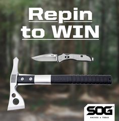 RePin To Win this SOG Fasthawk and Flashback.  Use @SOGKnives and #SOGgiveaway in your description!  Winner randomly selected Oct. 24