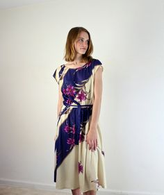 Vintage Floral Day Dress  #FlowerShop