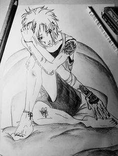 Anime Boy - Drawing ~ by Feli ♦