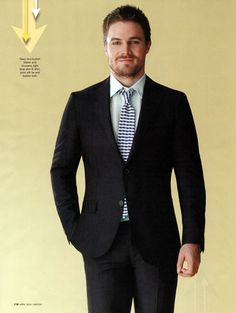 Picture of Stephen Amell Supergirl Dc, Supergirl And Flash, Oliver Queen Arrow, Stephen Amell Arrow, Arrow Tv, Stylish Mens Outfits, Kids Wardrobe, Sharp Dressed Man, Celebrity Outfits