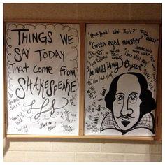 Phrases we get from Shakespeare bulletin board. Reslife. Residence Life. Ra.