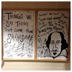 Phrases we get from Shakespeare bulletin board. Reslife. Residence Life. Ra.