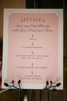 Fun idea at the guest table