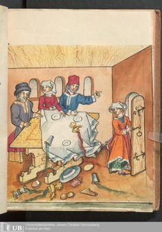 Ms. germ. qu. 12 - Die sieben weisen Meister Scribe Hans DNB Wikipedia Published Frankfurt, 1471