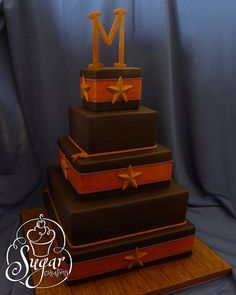 western wedding cake - would look good in black red and white :)