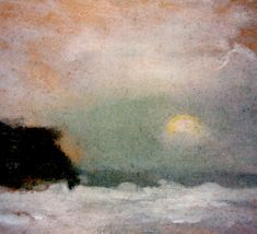 Moonrise, Beaumaris - Clarice Beckett Australian oil on board, x cm August Sander, Albert Bierstadt, Abstract Landscape, Landscape Paintings, Abstract Art, Australian Painters, Australian Artists, Paintings I Love, Beautiful Paintings