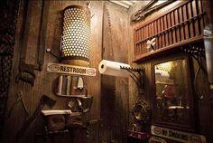 Steampunk restroom.