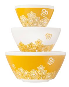 http://www.phomz.com/category/Pyrex/ 'Vintage Charm' Pyrex 100 Butterfly Gold                                                                                                                                                      More