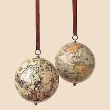 globe christmas tree ornament - Google Search