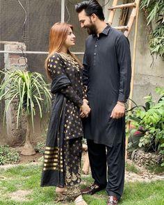 Love Couple, Beautiful Couple, Girl Hiding Face, High Neck Dress, Victorian, Couples, Pakistani, Dresses, Fashion