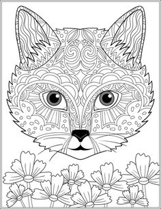 504 Best Cats Dogs Coloring Pages For Adults Images In 2019