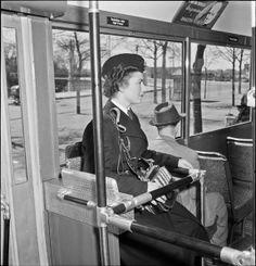 Tram Conductor Nora Eriksson. Stockholm, Sweden.