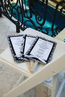 DIY Wedding Program Fans   DIY Budget Weddings