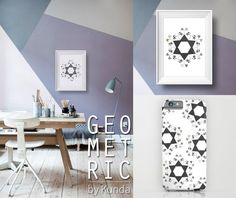 Diy Wall, Ipod, Wall Murals, Geometry, House Warming, Objects, Iphone Cases, Graphic Design, Art Prints