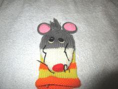 PUPPET VINTAGE HAND PUPPET 1978 RUSS BERRIE & CO. MOUSE  #RUSSBERRIECO