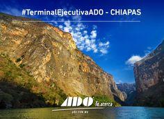 Disfruta Chiapas uno de los sitios naturales más hermosos del país saliendo de nuestra #TerminalEjecutivaADO ubicada en el sur de la Cd de México.  Entra a: www.ado.com.mx