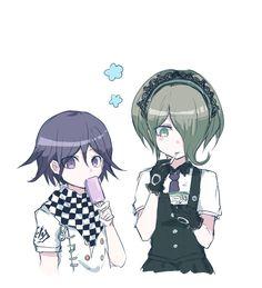 Kokichi Ouma and Kirumi Tojo.