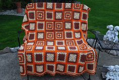 Vintage Afghan Retro by CheekyVintageCloset on Etsy, $32.00