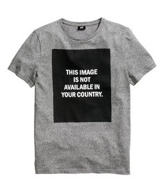 This Image Is Not Available In Your Country T-shirt, from H&M