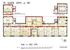 First Floor - Glasgow School of Art (1897-1909) | Charles Rennie Mackintosh