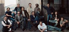 Tom Hanks, Tom Cruise, Harrison Ford, Jack Nicholson, Brad Pitt, Edward Norton, Jude Law, Samuel L. Jackson, Don Cheadle, Hugh Grant, Dennis Quaid, Ewan McGregor, and Matt Damon by Annie Leibovitz , 2003 https://fbcdn-sphotos-b-a.akamaihd.net/hphotos-ak-prn1/557724_10151778406632488_1113030578_n.jpg