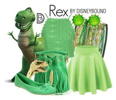 Rex by leslieakay on Polyvore featuring Topshop, Anna Field, Yves Saint Laurent, Sequin, Style & Co., disney, disneybound and disneycharacter