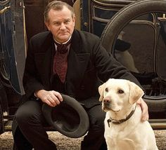 Isis, the loyal dog, and Lord Grantham of Downton Abbey