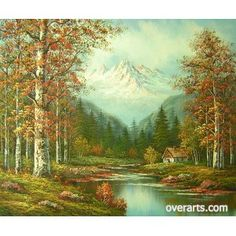 Mountainscape Oil Painting  www.OverArts.com