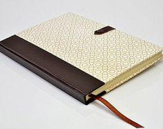Caderno com fecho