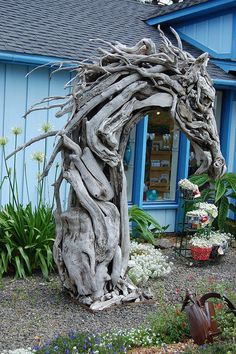 Posted by Green Renaissance  Driftwood horse