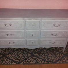 Chalk painted dresser.
