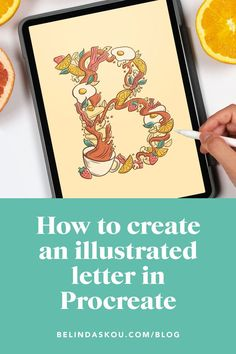 How to draw an illustrated letter in Procreate — Belinda   Lettering Artist & Illustrator   Chicago Lettering Tutorial, Hand Lettering, Doodle Art Drawing, Doodles, Drop Cap, Art Lessons, Sketches, Messages, Create