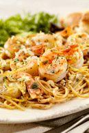 Healthy Dinner Recipes: Garlic Prawn Spaghetti. #HealthyRecipes #DietRecipes #WeightlossRecipes weightloss.com.au