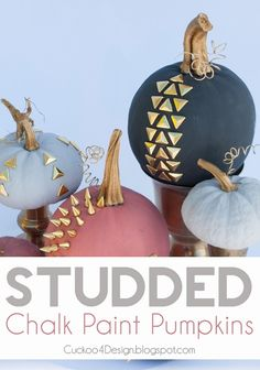 Studded Chalk Paint Pumpkins