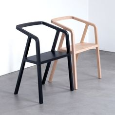Thomas Feichtner's minimal A-Chair is made using traditional carpentry techniques http://www.dezeen.com/2016/04/09/thomas-feichtner-minimal-a-chair-traditional-carpentry-milan-design-week-2016/