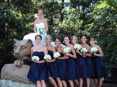 Penn State wedding bride at the Lion Shrine.