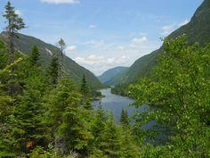 Le Parc national des Hautes-Gorges-de-la-Rivière-Malbaie, Québec, Canada