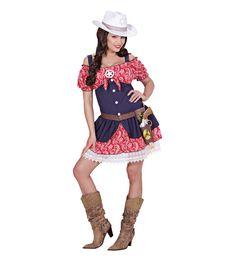 #Vaquera Disfraz de Cowgirl  Incluye: Vestido  Composición: Streck, popelin y puntilla http://www.disfracessimon.com/disfraces-adultos/2686-disfraz-cowgirl-p-2686.html