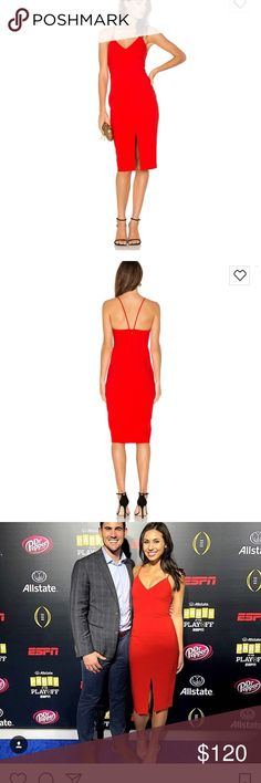 Likely NYC Brooklyn Dress in Scarlet Beautiful scarlet cocktail dress- this brand fits so well and this dress emphasizes your curves! Worn once. Fits like a 2 (brand tends to run smaller). Has not been altered. Likely NYC Dresses Mini