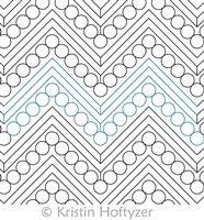 Digital Quilting Design Kristin's Chevron by Kristin Hoftyzer.