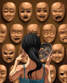 Art Drawings Deep Meaning Ideas For 2019 Drawing Faces, Art Drawings, Mask Drawing, Drawing Art, Satirical Illustrations, Satirical Cartoons, Arte Horror, Gcse Art, Psychedelic Art