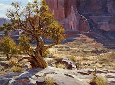 """The Sentinel,"" Mark Haworth, 12x16, oil"