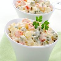 Find Russian Traditional Salad Closeup Selective Focus stock images in HD and millions of other royalty-free stock photos, illustrations and vectors in the Shutterstock collection. Salad Recipes, Healthy Recipes, Healthy Food, Happy B Day, Destiel, Food For Thought, Potato Salad, Easy Meals, Fresh
