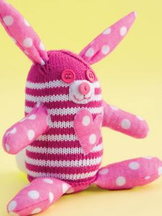 Pink Bunny Knitting Project